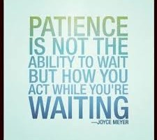 Word For Wednesday- Patience